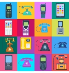 Telephones icons vector