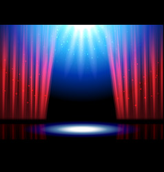 Theater scene with lights or theatre stage vector