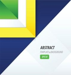 Triangle template yellow blue green vector