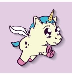 Unicorn horse cartoon design vector