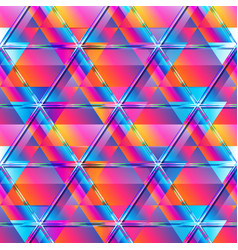 Vibrant triangle mosaic seamless pattern vector