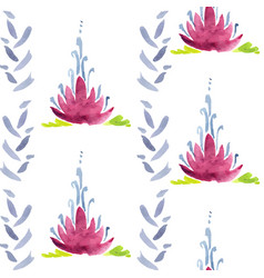 violet flower seamless decoration vector image