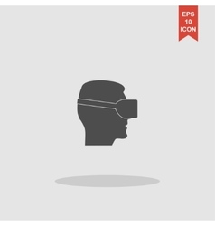 Virtual reality headset icon flat design vector image