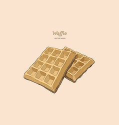 waffles hand draw sketch vector image