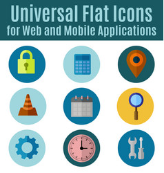 web flat icon vector image