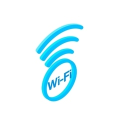 Wi fi zone isometric 3d icon vector image