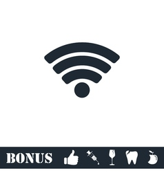 WIFI icon flat vector