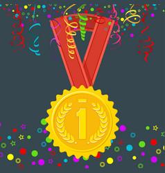 winner medal first place vector image