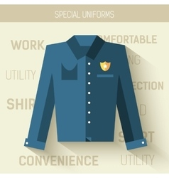 Work uniform for protection people icon vector