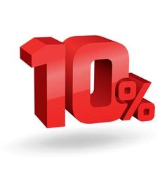10 percent digits vector image