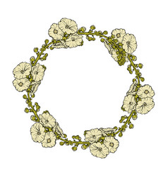 a floral wreath isolated vector image vector image