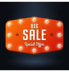 banner with text Big Sale billboard in retro style vector image vector image