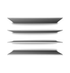 Empty shelves for presentation vector image