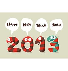 Happy New Year cartoon card vector image