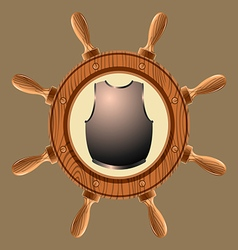 icon pirate cuirass vector image vector image