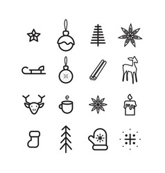 new year simple icon set vector image vector image
