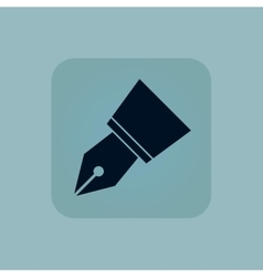 Pale blue pen nib icon vector