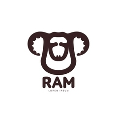 Ram sheep lamb head graphic logo template vector image vector image