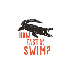 crocodile logo template symbol of alligator vector image vector image