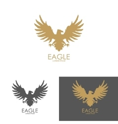 eagle mark isolated on white background vector image vector image