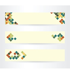 Light horizontal banners vector