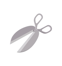 Metal scissors cartoon icon vector image