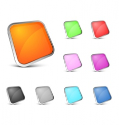 perspective color buttons vector image vector image