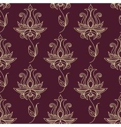 Vintage ethnic flourish seamless pattern vector image vector image