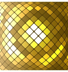 abstract golden mosaic background vector image vector image