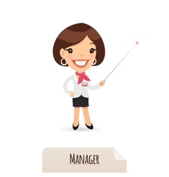 Female Manager With Laser Pointer vector image