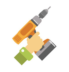 hand with screwdriver isolated vector image vector image
