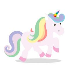 love pink unicorn vector image