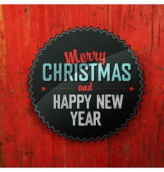 Merry Christmas On Red Texture vector image vector image