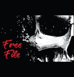 skull artistic splatter free file vector image vector image
