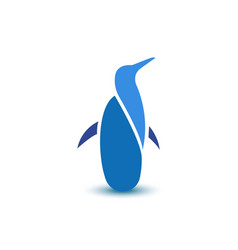 Abstract penguin business logo sign animal icon vector image vector image