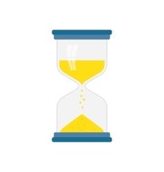 hourglass icon flat vector image vector image