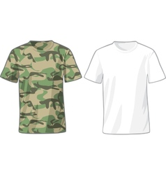 Mens White and Military Shirts template vector image vector image