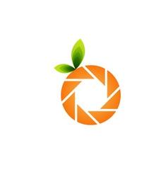 Orange photography logo vector image