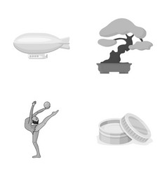 tourism sport cosmetologyand other monochrome vector image vector image