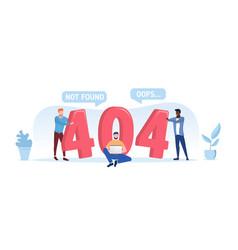 404 not found or oops computer error vector