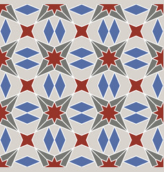 Abstract geometric ornament with four-beam vector