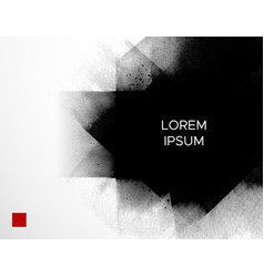 abstract minimalistic ink wash painting vector image