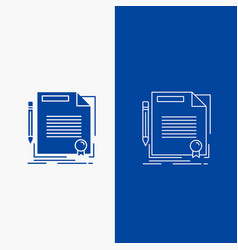 Agreement contract deal document paper line and vector