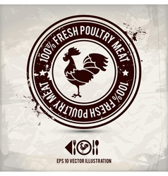 Alternative poultry stamp vector