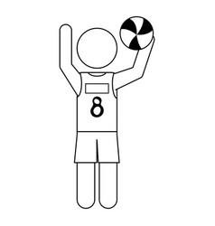 Athlete icon image vector