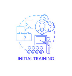 Basic training program for new worker concept icon vector