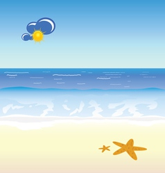 Beach cartoon art vector