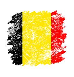 Belgium flag grunge brush background old brush vector