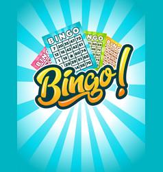 Bingo poster vector
