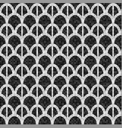 Black and white arch mosaic seamless pattern in vector